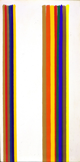 "Morris Louis, ""Canopus,"" 1962, 82 1/2 x 41 in. (209.6 x 104.1 cm), Acrylic resin (Magna) on canvas,"