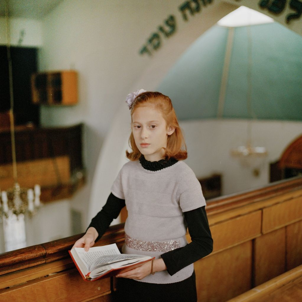 """Chayla in Shul,"" by Laura Pannack, winner of the National Portrait Gallery's 2014 John Kobal Award."