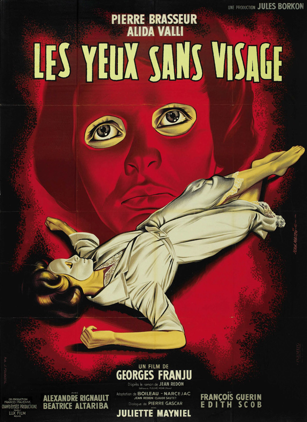 "Brilliant poster for ""Eyes Without a Face,"" 1960."