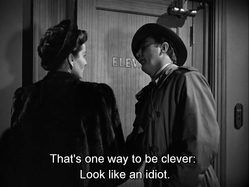 "Rhonda Flemin and Robert Mitchum, ""Out of the Past"" (1947) screenplay by Daniel Mainwaring."