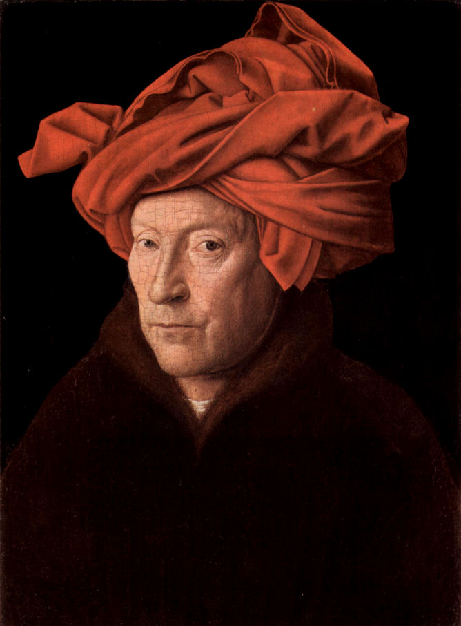 The Man in a Red Turban by Jan Van Eyck, 1433