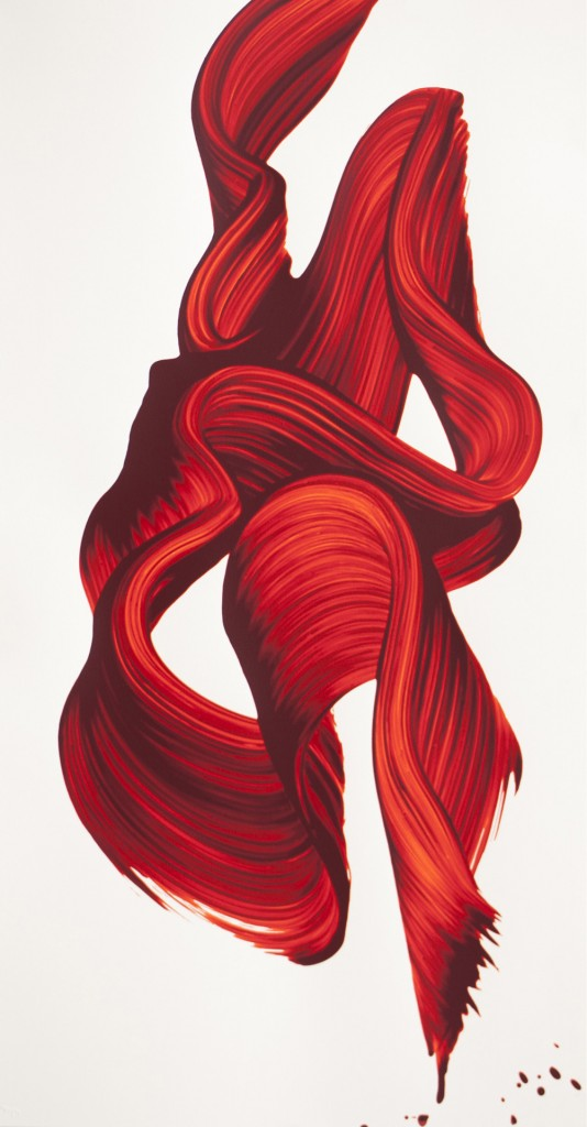 James Nares, TJARDA-nesian Swirl, oil on canvas