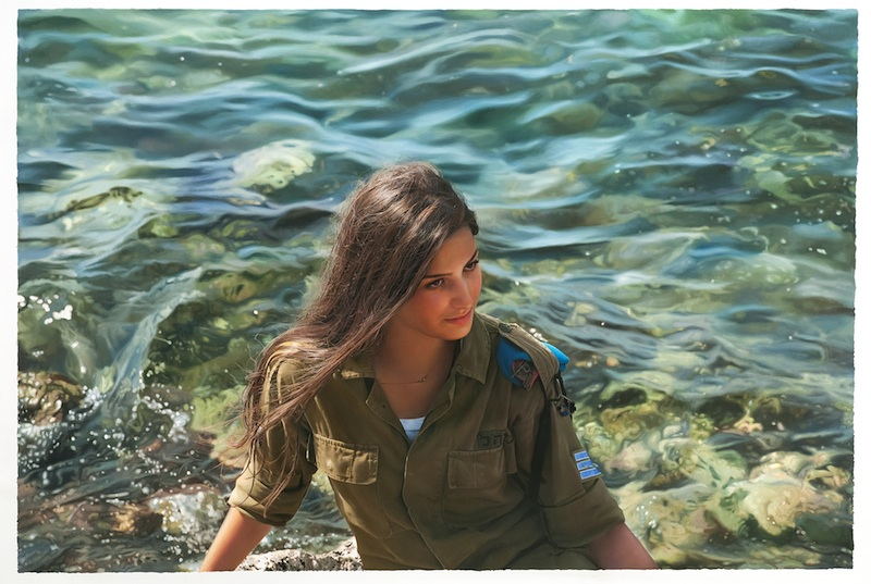 Yigal Ozeri, Untitled, Territory, 2012 , Oil on paper, 60 x 90 inches
