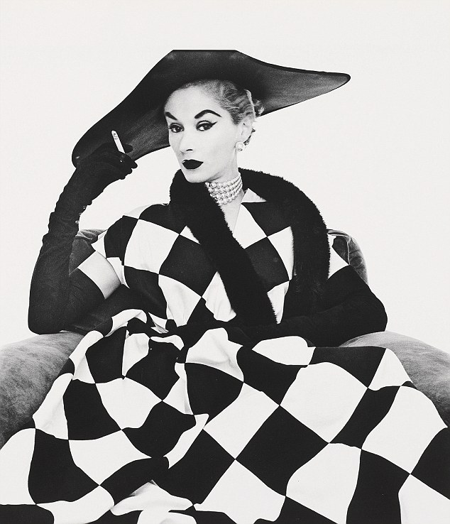 Irving Penn, Portrait of his wife Lisa Fonssagrives-Penn in Harlequin Dress , New York, 1950,