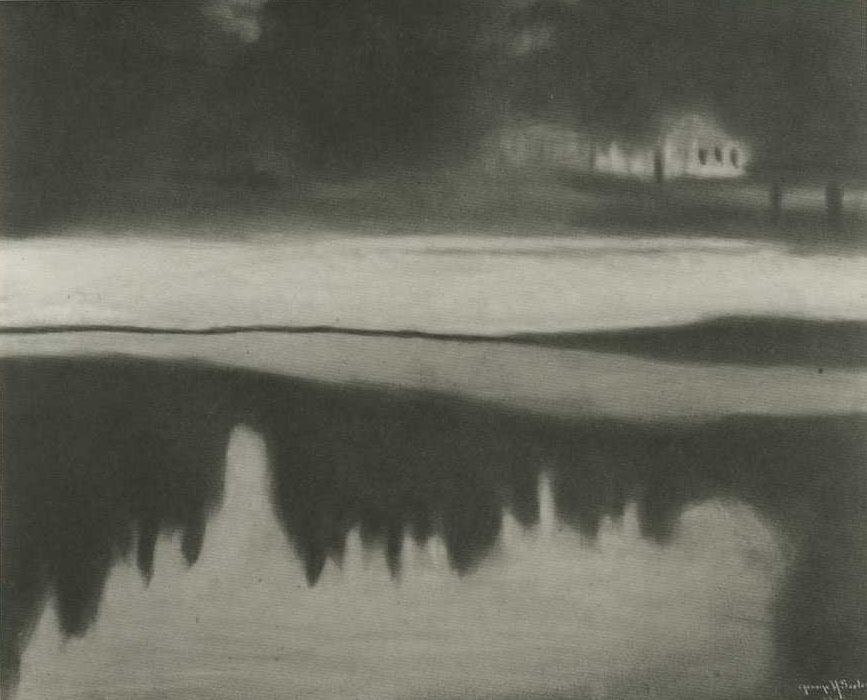George Seeley, Untitled (Winter Landscape) 1909 gum bichromate print 17 x 21