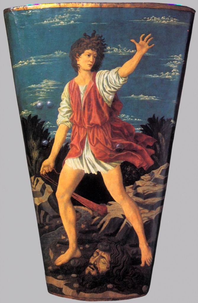 Andrea del Castagno (1423-1457) The Youthful David Tempera on leather on wood c1450