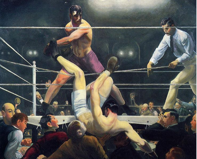 George Bellows, Dempsey and Firpo, 1924, oil on canvas