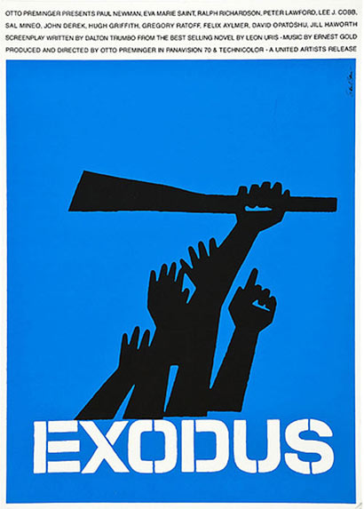 Brilliant poster by Saul Bass, Exodus, 1960