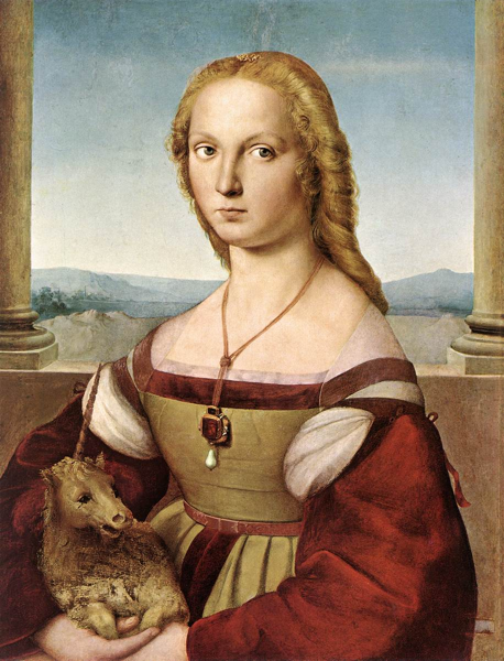 Raphael, Lady with a Unicorn, 1505, oil on wood, 65 x 51 cm