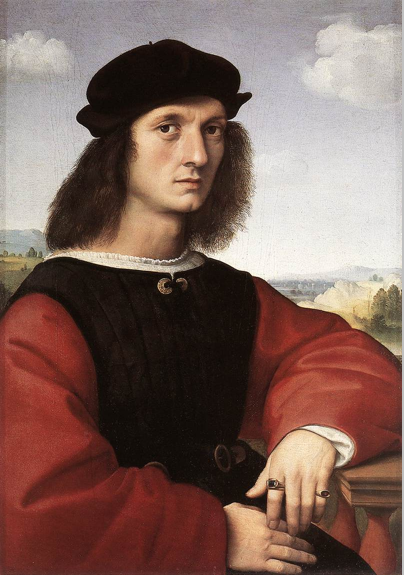Raphael, Portrait of Agnolo Doni, 1506, oil on wood, 63 x 45 cm