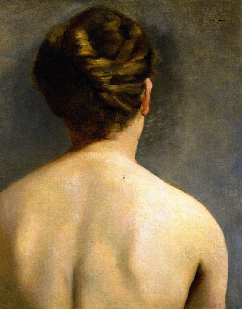 Eva Gonzalès, The Chignon, c.1865/ 1870, Oil on panel, 51 x 40 cm
