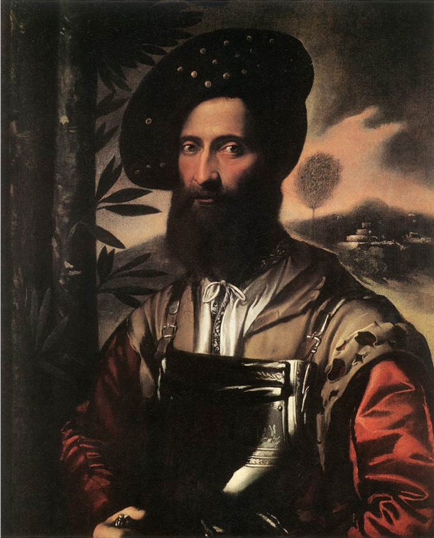 Dosso Dossi, Portrait of a Warrior, 1530s, oil on canvas, 86 x 70 cm