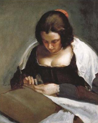 Diego Velasquez, The Needlewoman, ca 1635- 1643, Oil on canvas, 74 x 60 cm