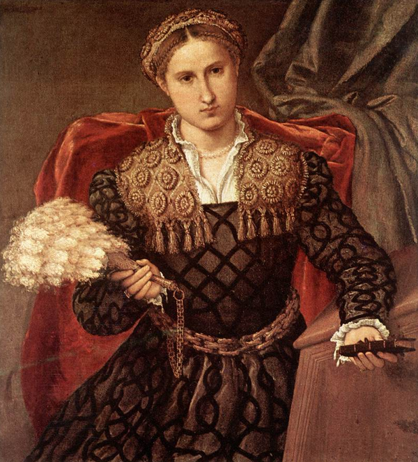 Lorenzo Lotto, Portrait of Laura da Pola, 1544, oil on canvas, 90 x 75 cm