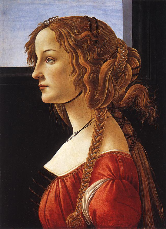 Portrait of a Young Woman, Sandro Botticelli, after 1480, Oil on Panel, 47,5 x 35 cm