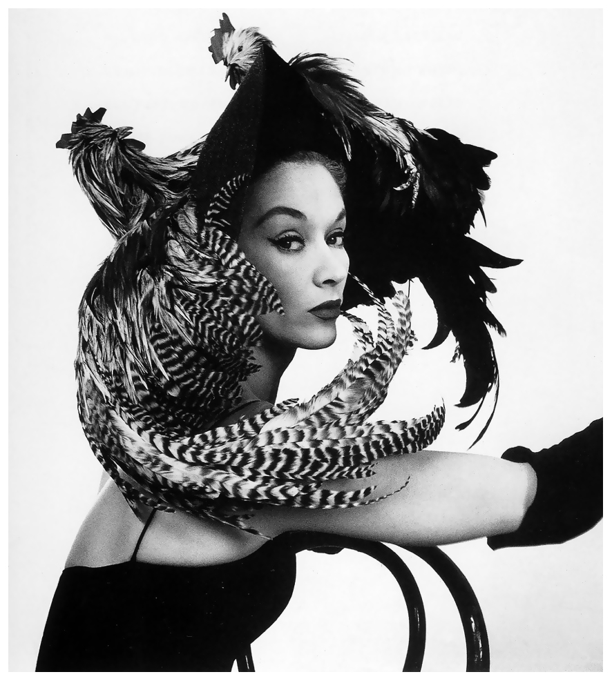 Irving Penn, Woman in Chicken Hat- Lisa Fonssagrives, 1948-49