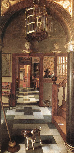 "Samuel van Hoogstraten, ""View of a Corridor"" 1662 Oil on canvas, 260 x 140 cm"