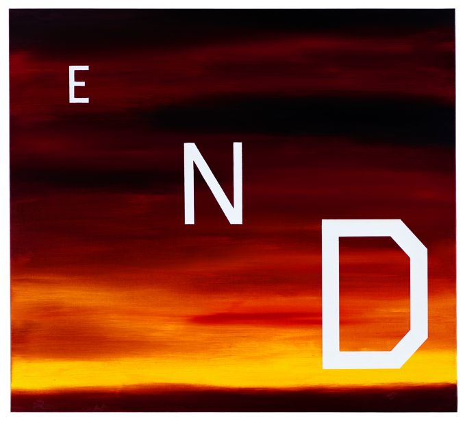 Ed Ruscha, END 1983 oil on canvas 36 x 40 inches