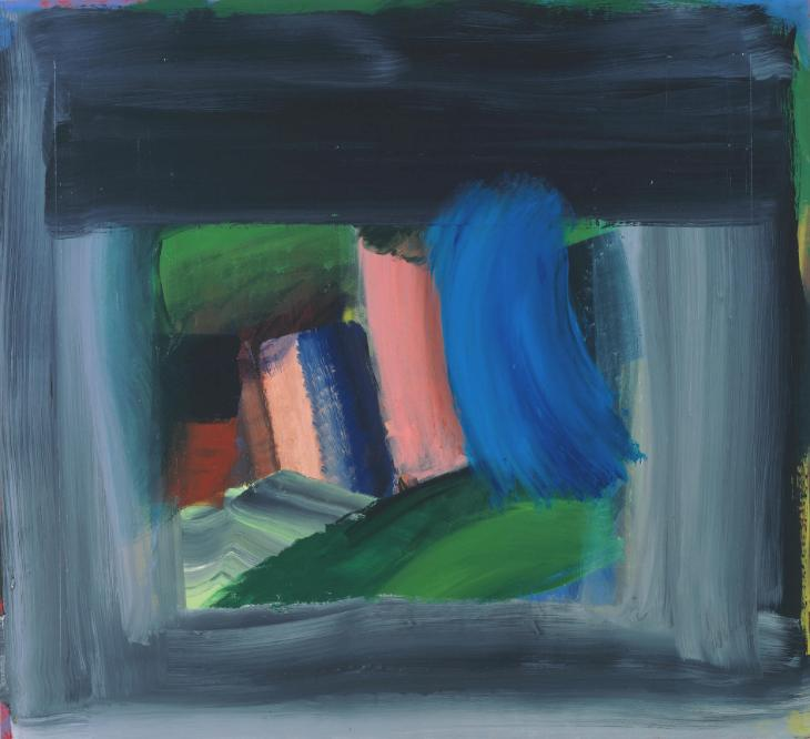 Howard Hodgkin born 1932 Title Rain Date 1984–9 Medium Oil paint on composite panel Dimensions Support: 1640 x 1795 x 51 mm