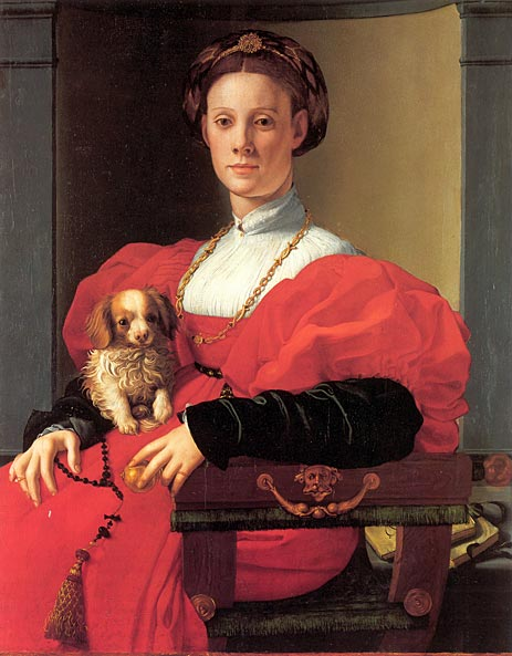 Pontormo, Portrait of a Lady in Red Dress, 1532-33.
