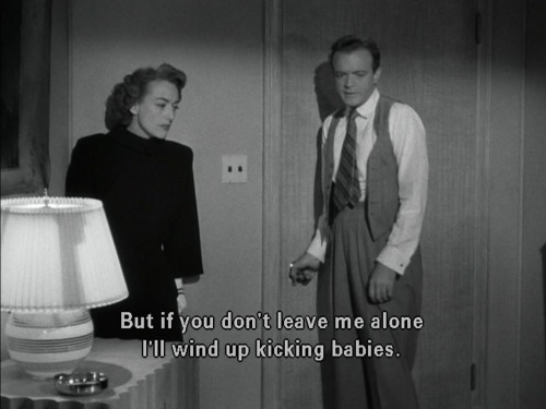 Joan Crawford and Van Heflin in Possessed, 1947, Screenplay by Ranald MacDougall and Silvia Richards, based upon a story by Rita Weiman.