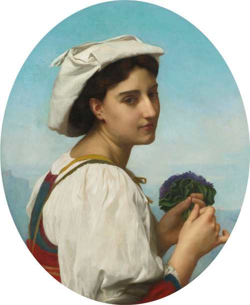 The Bouquet of Violets William Adolphe Bouguereau, 1870