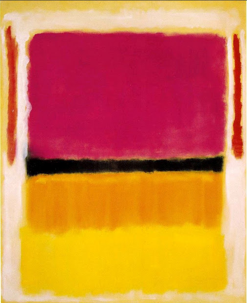 Mark Rothko, born Markus Yakovlevich Rotkovich, (1903 – 1970) Untitled (Violet, Black, Orange, Yellow on White and Red), 1949. Oil on canvas, 207 x 167.6 cm. Solomon R. Guggenheim Museum