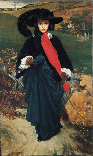 Lord Frederic Leighton, May Sartoris, c. 1860, oil on canvas, 90.2 x 152.1 cm (Kimbell Art Museum, Fort Worth, Texas)