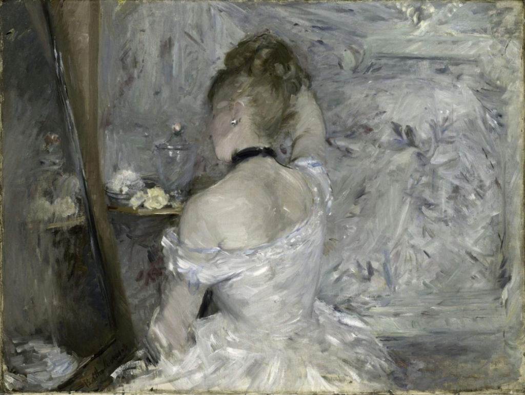 Berthe Morisot, Woman at her Toilette, 1875 -1880, Oil on canvas, 60,3 x 80,4 cm, Art Institute of Chicago