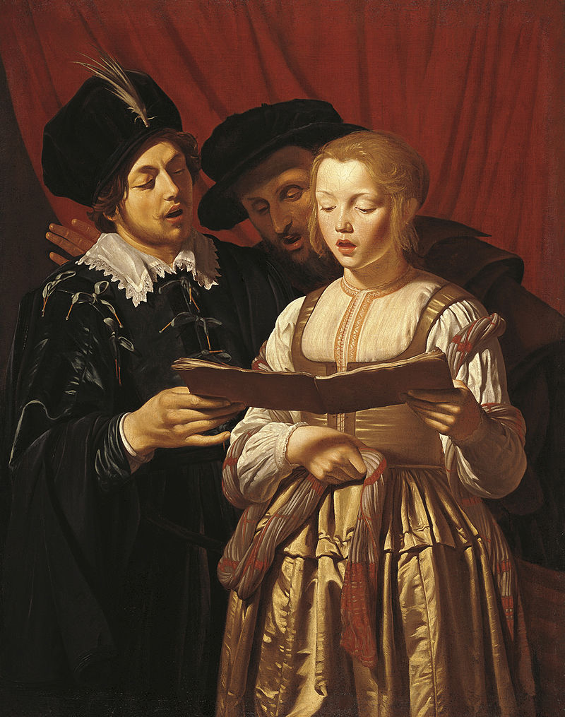Adam de Coster, Three Singers, 1607-1643