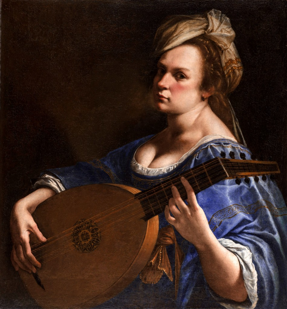 Artemisia Gentileschi, Self-Portrait as a Lute Player, circa 1615-1617