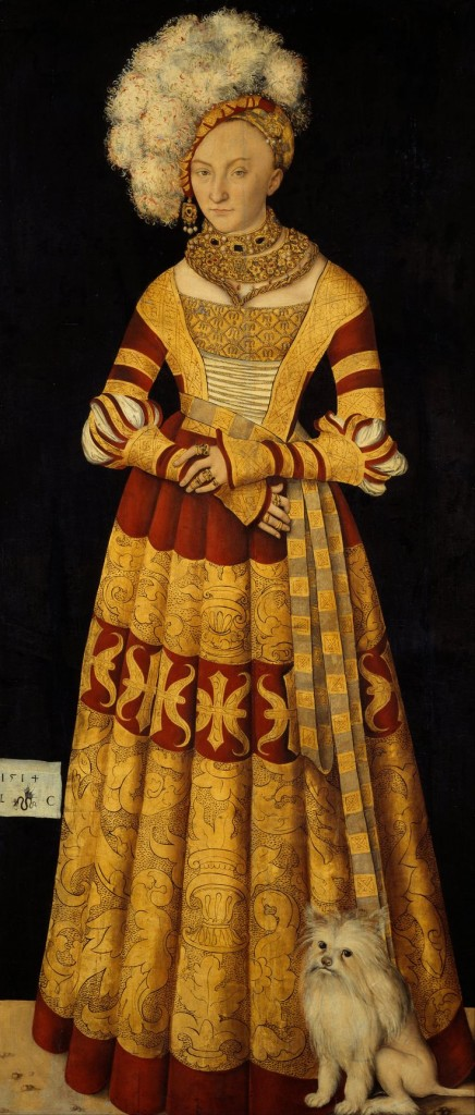 Lucas Cranach the Elder, Duchess Katharina von Mecklenburg, 1514, oil on canvas, 185 x 82.5 cm