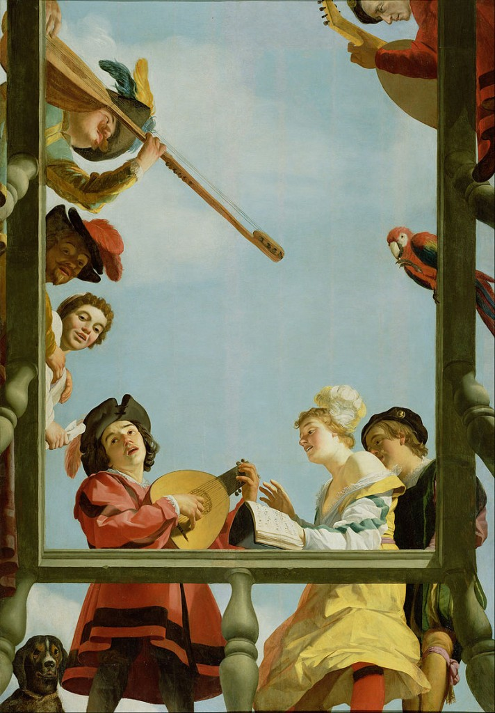 Gerrit van Honthorst Musical Group on a Balcony, 1621