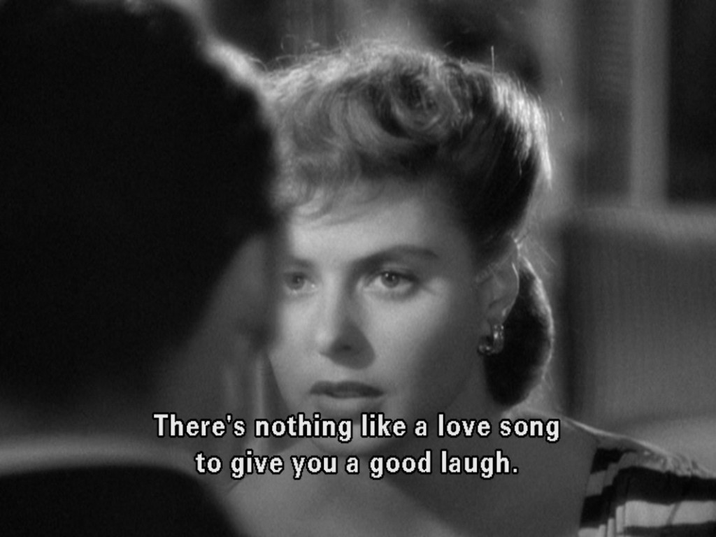 "Ingrid Bergman in ""Notorious"", 1946, screenplay by Ben Hecht."