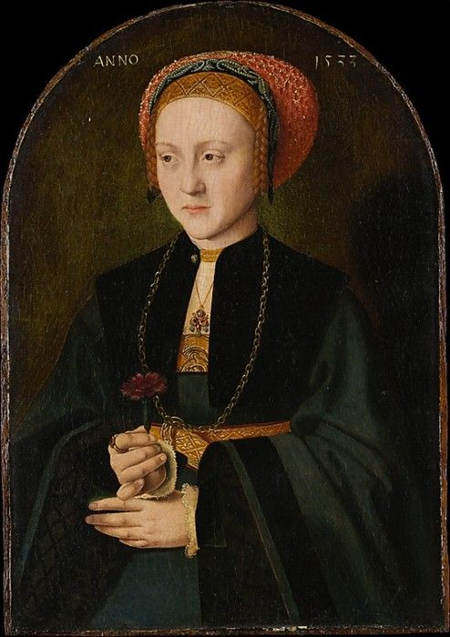 Portrait of a Woman, 1533, Barthel Bruyn the Elder. German Northern Renaissance Painter (1493-1555)