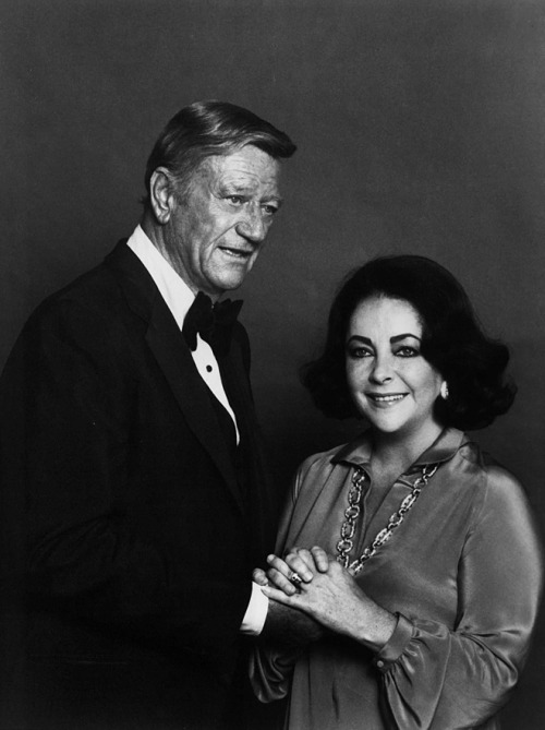 """He is as tough as an old nut and as soft as a yellow ribbon…His image had as much impact in the world as many of our presidents have had, but Duke was a great actor, a great humanitarian, but always himself."" —Elizabeth Taylor"