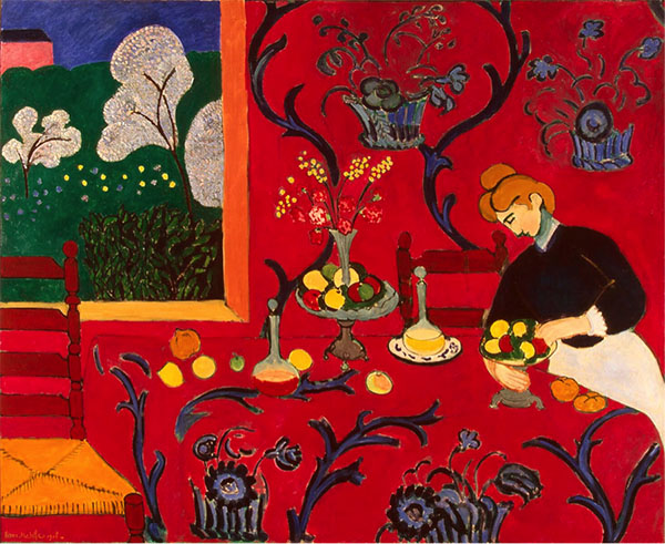 Matisse, The Red Room (Harmony in Red) (1908)