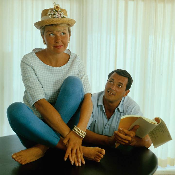 """The trouble we had was trying not to laugh. Doris and I couldn't look at each other. You know, that sweet agony of laughing when you're not supposed to? That's what we had,"" ~Rock Hudson"