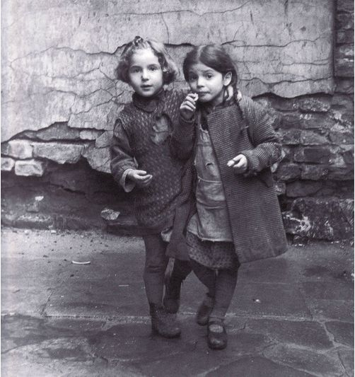 "Roman Vishniac, Young Jewish Girls, Warsaw 1935. ""These are the faces of children I embraced and kissed and loved. I cannot imagine that they are dead, that none would survive… A million and a half children among the six million… But this I knew… I wanted to save their faces, not their ashes."" —Roman Vishniac"