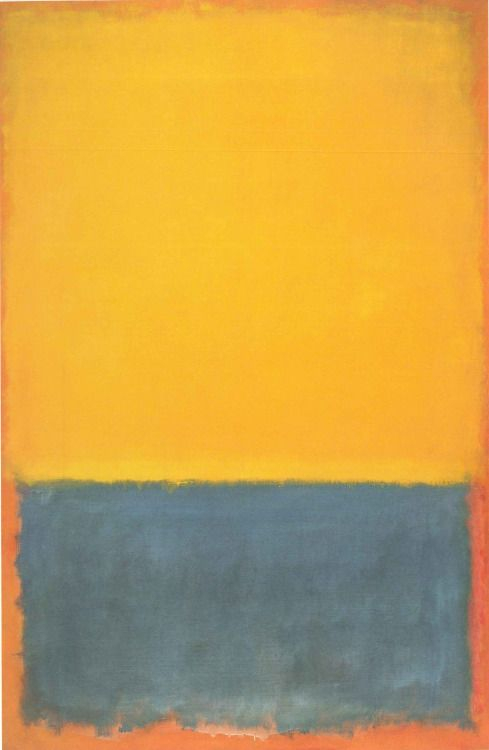 Mark Rothko, Yellow, Blue on Orange, 1955