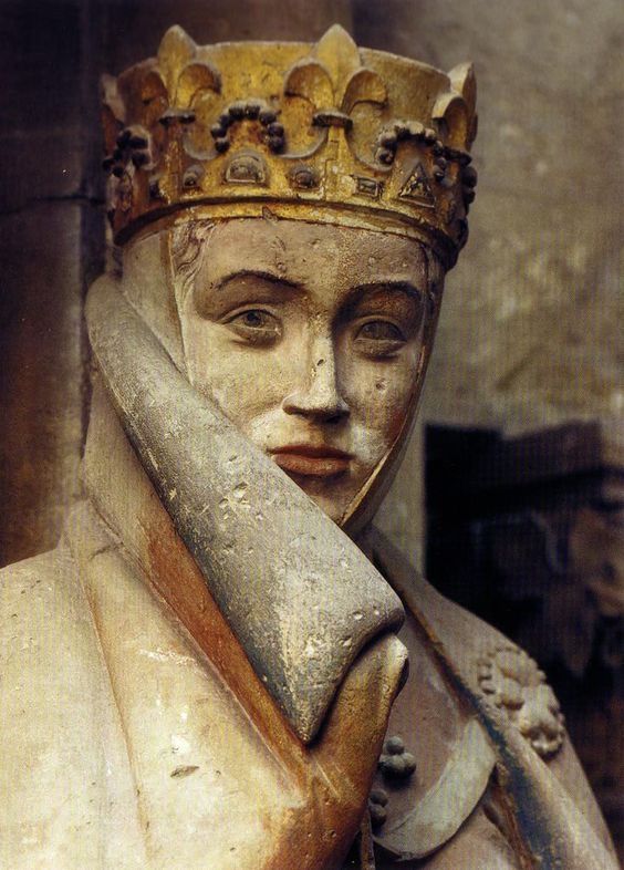 Countess Uta of Naumburg (nee Ballenstedt) 1000 - 1046 (Figure was made 1255 by the Naumburg Masters. Stands in the Cathedral of Naumburg, Saxony-Anhalt, Germany. If you look closely you will realize she was Disney's inspiration for the wicked stepmother in Snow White.