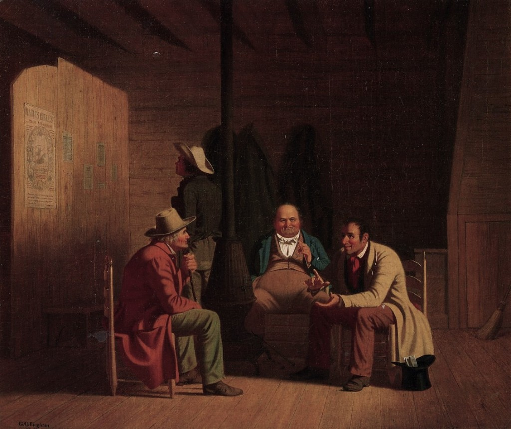 George Caleb Bingham, Country Politician, 1849, Oil on canvas, 50,8 x 60,96 cm, Fine Arts Museums of San Francisco