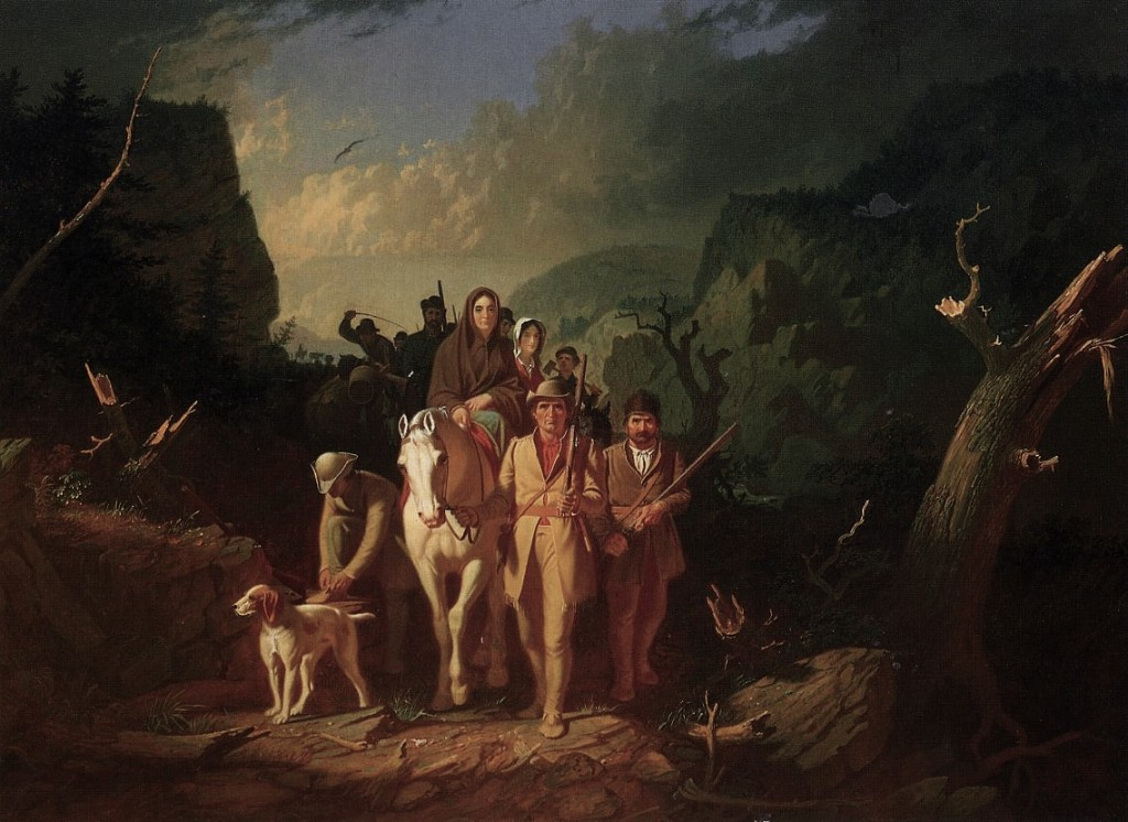 George Caleb Bingham, The Emigration of Daniel Boone, 1851/ 1852, Oil on canvas, 92,7 x 127 cm, Mildred Lane Kemper Art Museum, St Louis