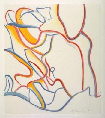 Willem de Kooning, Untitled, 1986, Color lithograph, 71,1 x 62,2 cm, Fine Arts Museums of San Francisco