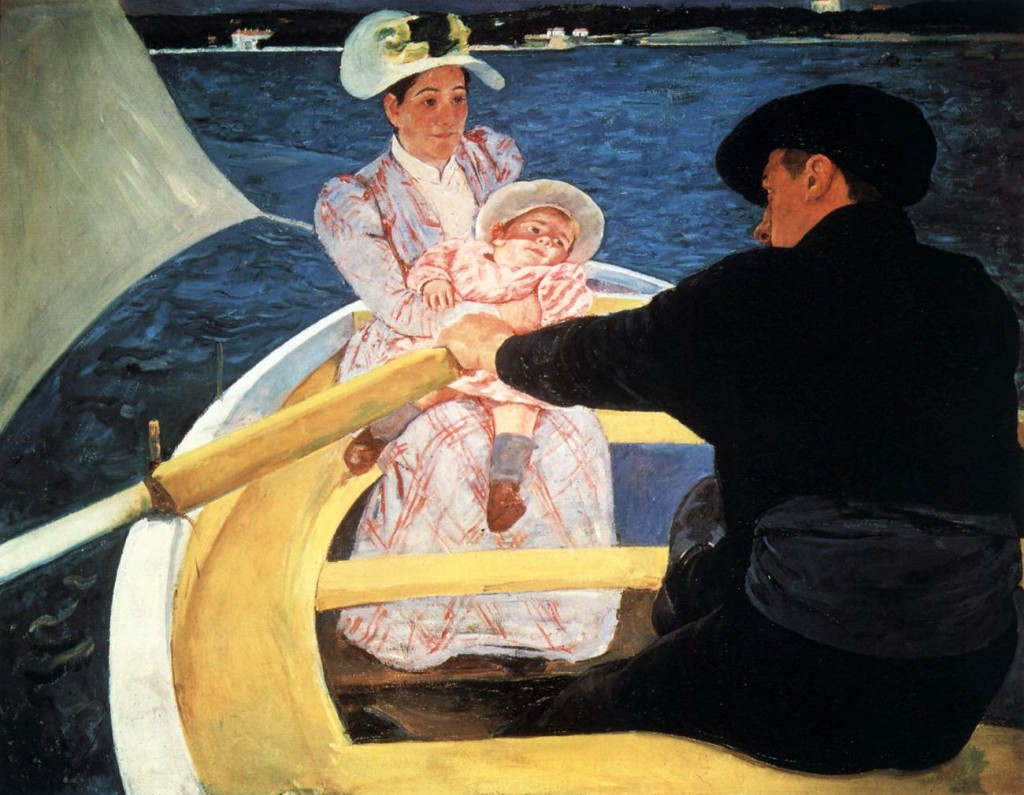 "Mary Cassatt, (American, 1844 - 1926) ""The Boating Party"" 1893-94 Oil on canvas, 90 x 117 cm National Gallery of Art, Washington.jpg"