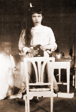 """I took this picture of myself looking at the mirror. It was very hard as my hands were trembling.""-exerpt from a letter written by Grand Duchess Anastasia Nikolaevna of Russia, to her father, Tsar Nicholas II, on October 28, 1914. She was executed with her family by members of the Cheka, the Bolshevik secret police, on July 17, 1918."