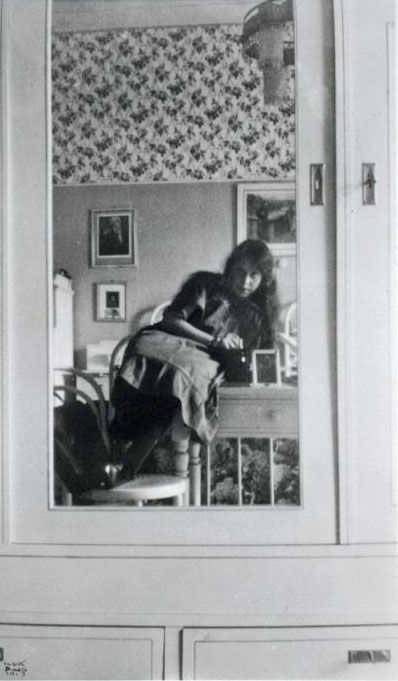 Ilse Bing, Self-Portrait, My First Photograph, 14-years old, Frankfort, 1913