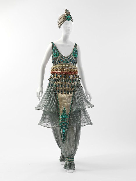 Fancy dress costume Designer: Paul Poiret (French, Paris 1879–1944 Paris) Date: 1911 Medium: metal, silk, cotton Dimensions: Length (a): 50 1/4 in. (127.6 cm) Diameter (b): 8 1/8 in. (20.6 cm)