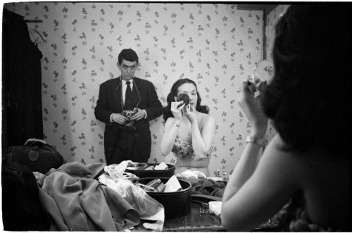 Stanley Kubrick, Rosemary Williams Showgirl with Self Portrait, 1949 for Look Magazine