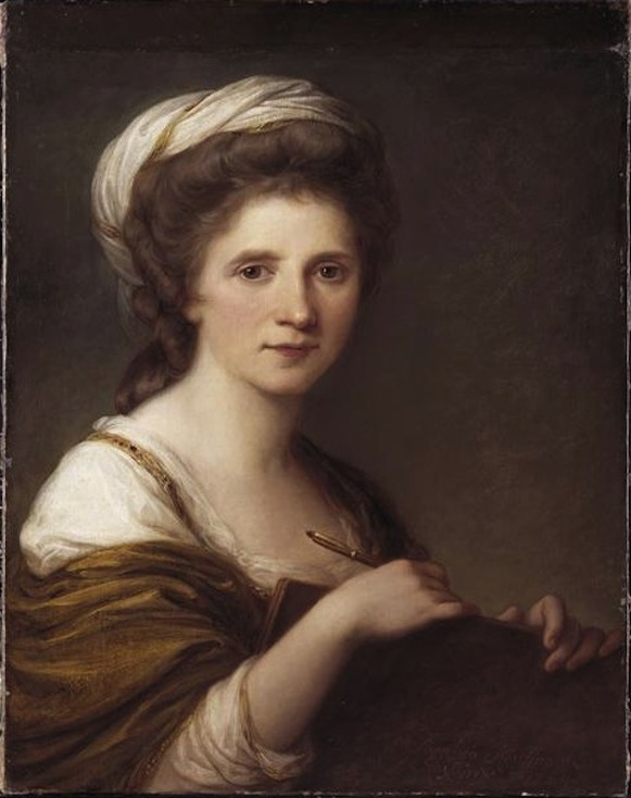 Angelica Kauffmann, Self-Portrait, date unknown, Oil on canvas, 0,648 x 0,507 m, Neue Pinakothek, Munich